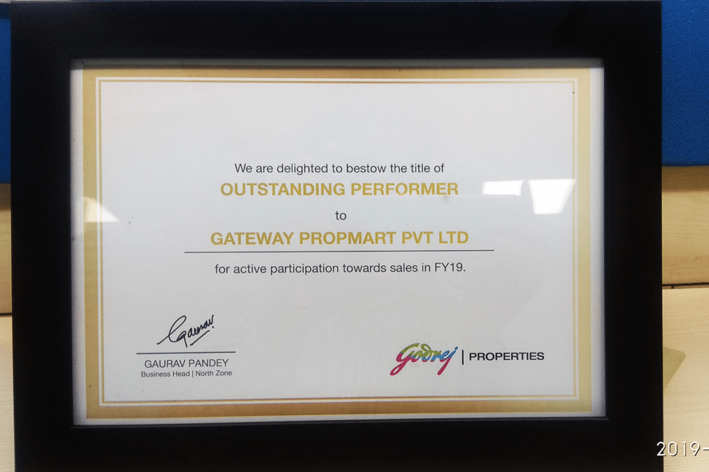 Godrej Properties Outstanding Performer of the year